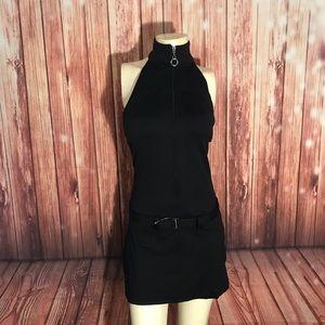 Bebe Sport High Neck Belted Dress